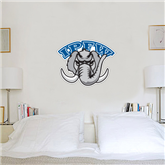 2.5 ft x 4 ft Fan WallSkinz-Arched IPFW with Mastodon
