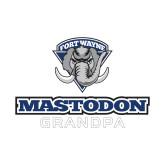 Small Decal-Mastodon Grandpa, 6 inches wide