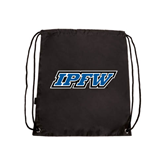 Black Drawstring Backpack-IPFW