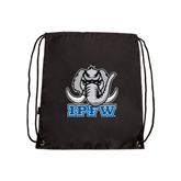 Black Drawstring Backpack-Mastodon with IPFW