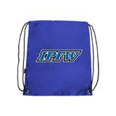 Nylon Royal Drawstring Backpack-IPFW