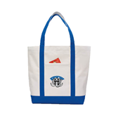 Contender White/Royal Canvas Tote-Arched IPFW with Mastodon