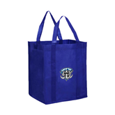 Non Woven Royal Grocery Tote-IPFW Mastodon Shield