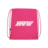 Pink Drawstring Backpack-IPFW