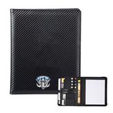 Carbon Fiber Tech Padfolio-IPFW Mastodon Shield
