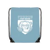 Light Blue Drawstring Backpack-Primary Athletic Logo