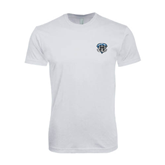 SoftStyle White T Shirt-IPFW Mastodon Shield