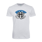 SoftStyle White T Shirt-Arched IPFW with Mastodon