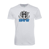 SoftStyle White T Shirt-Mastodon with IPFW