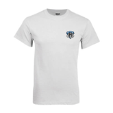 White T Shirt-IPFW Mastodon Shield