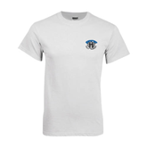 White T Shirt-Arched IPFW with Mastodon