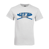 White T Shirt-Baseball Bats Design