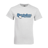 White T Shirt-Softball Design