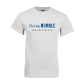 White T Shirt-Feel The Rumble