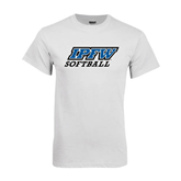 White T Shirt-Softball