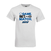 White T Shirt-Game Set Match Tennis Design