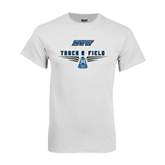 White T Shirt-Track and Field Design