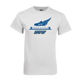 White T Shirt-Track and Field Side Shoe Design