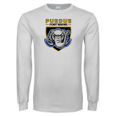 White Long Sleeve T Shirt-Primary Athletic Logo