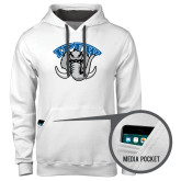Contemporary Sofspun White Hoodie-Arched IPFW with Mastodon