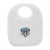 White Baby Bib-IPFW Mastodon Shield