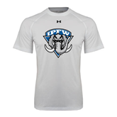 Under Armour White Tech Tee-IPFW Mastodon Shield