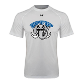 Under Armour White Tech Tee-Arched IPFW with Mastodon
