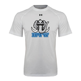 Under Armour White Tech Tee-Mastodon with IPFW