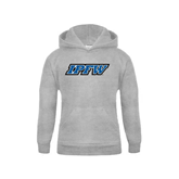 Youth Grey Fleece Hood-IPFW