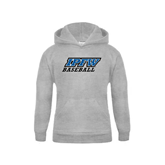 Youth Grey Fleece Hood-Baseball