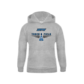 Youth Grey Fleece Hood-Track and Field Design