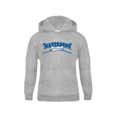 Youth Grey Fleece Hood-Baseball Design