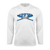 Syntrel Performance White Longsleeve Shirt-Baseball Bats Design