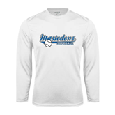 Syntrel Performance White Longsleeve Shirt-Softball Design