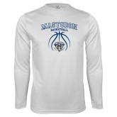 Performance White Longsleeve Shirt-Mastodon Basketball