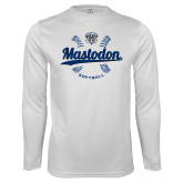 Performance White Longsleeve Shirt-Mastodon Softball