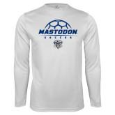Performance White Longsleeve Shirt-Mastodon Soccer