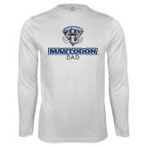 Performance White Longsleeve Shirt-Mastodon Dad