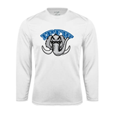 Syntrel Performance White Longsleeve Shirt-Arched IPFW with Mastodon