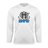 Syntrel Performance White Longsleeve Shirt-Mastodon with IPFW