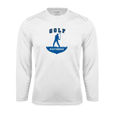 Syntrel Performance White Longsleeve Shirt-Golfer Golf Design