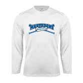 Syntrel Performance White Longsleeve Shirt-Baseball Design