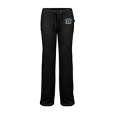 ENZA Ladies Black Fleece Pant-Arched IPFW with Mastodon