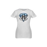 Youth Girls White Fashion Fit T Shirt-IPFW Mastodon Shield