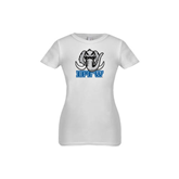 Youth Girls White Fashion Fit T Shirt-Mastodon with IPFW