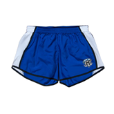 Ladies Royal/White Team Short-IPFW Mastodon Shield