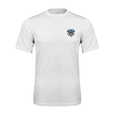 Syntrel Performance White Tee-IPFW Mastodon Shield