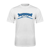 Syntrel Performance White Tee-Baseball Design