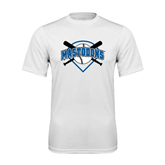 Syntrel Performance White Tee-Softball Bats and Plate Design