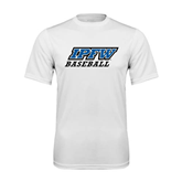 Syntrel Performance White Tee-Baseball